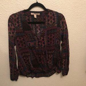 Geo tribal boho print blouse
